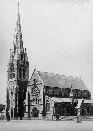 Christchurch Cathedral, c. 1881, approved for partial demolition.