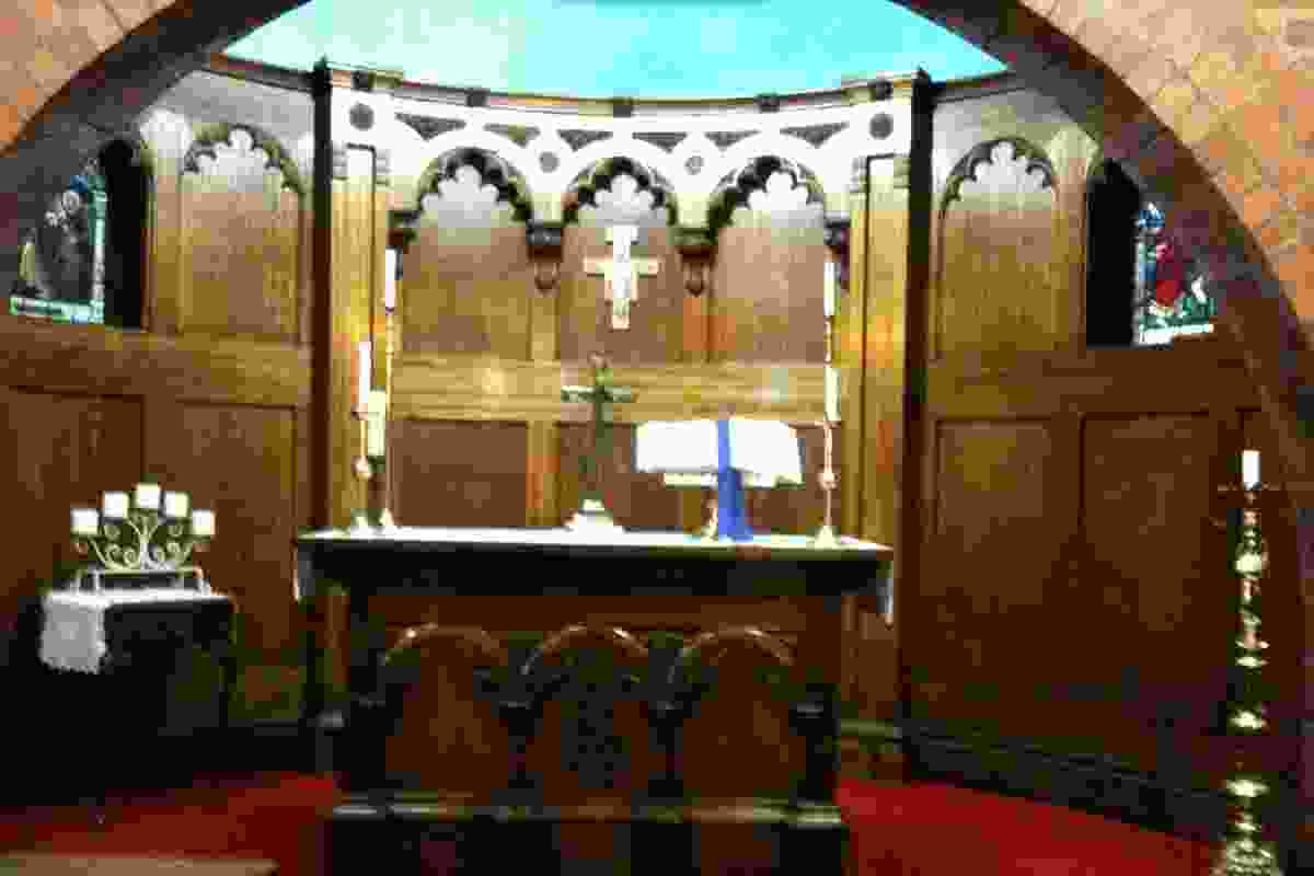 Inside the chapel at the Mission to Seafarers.