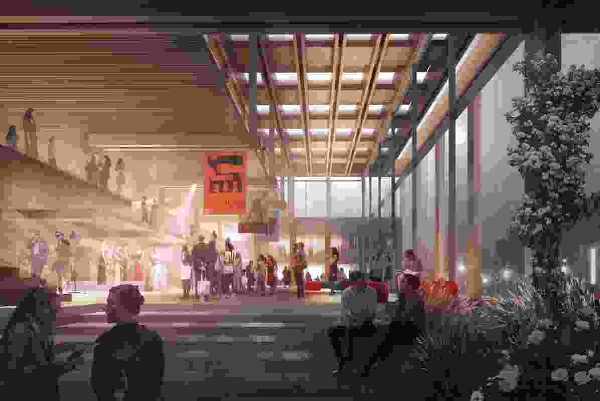 The proposed foyer space will have the capacity to host a variety of events.