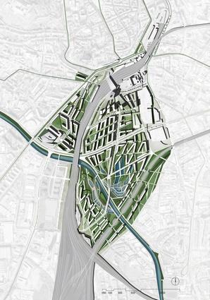 Brno city masterplan by Plasma Studio.
