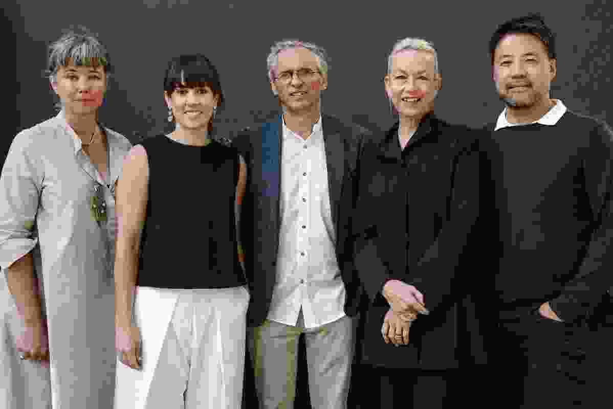 The 2019 jury, L–R: Rachel Nolan, Katelin Butler, Luigi Rosselli, Lindy Atkin and John Choi.