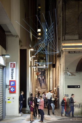 Augmented Spatiality installation for a Sydney laneway by SANALarc, 2013.