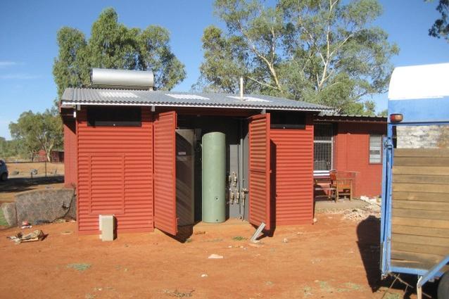 Modular bathroom for remote area housing by Healthabitat, 2008–11.