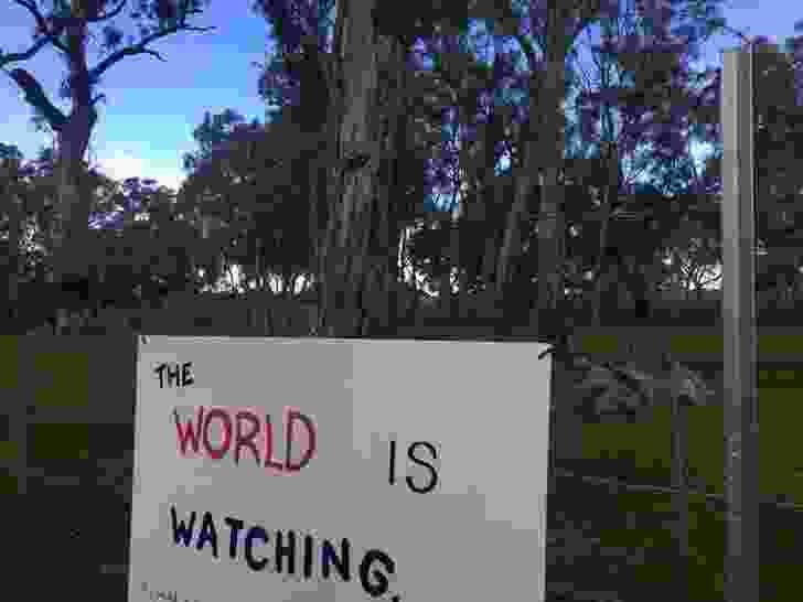 Sign at the Djab Wurrung embassy.