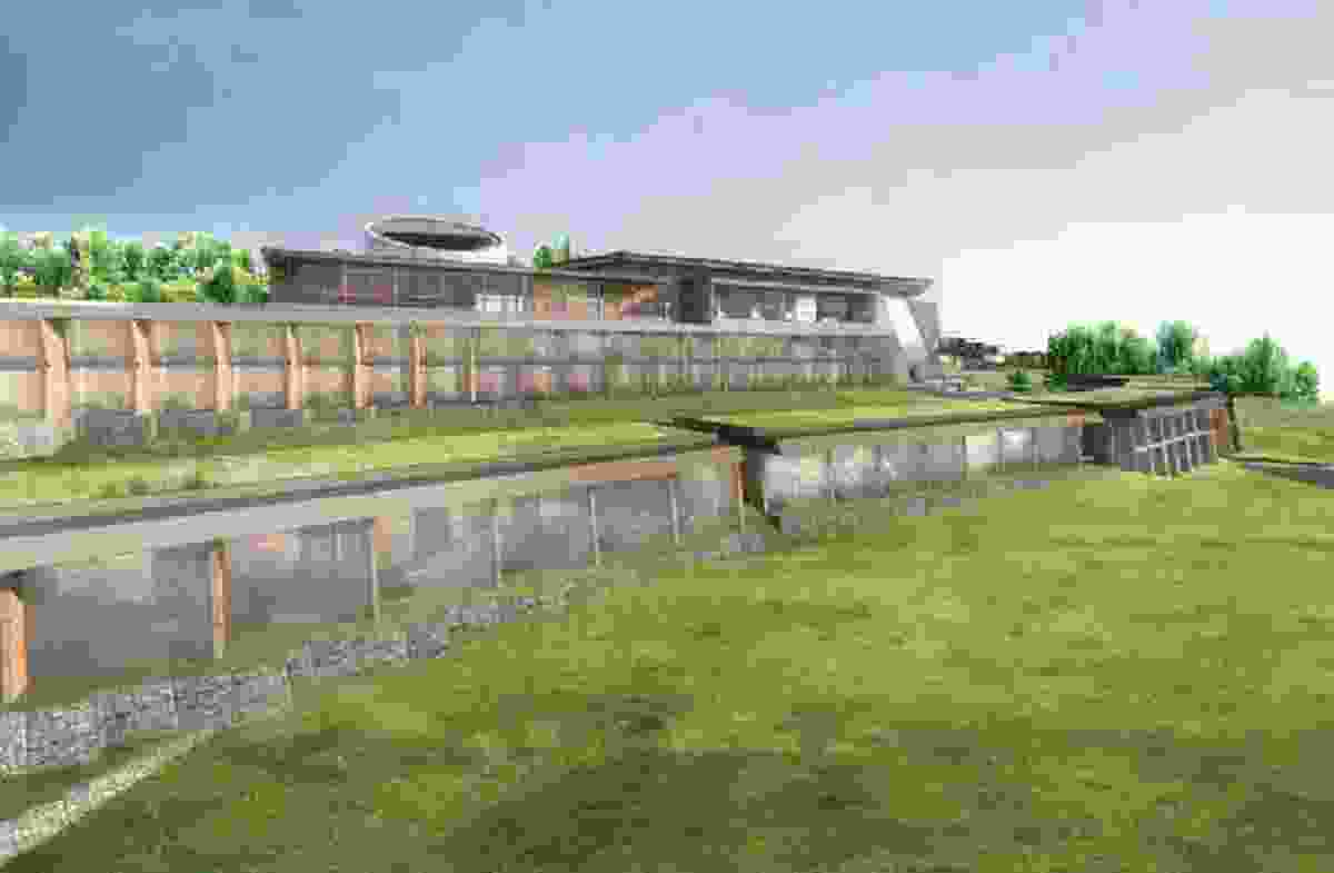 The main hotel and villas of the proposed Apollo Bay resort by Spowers Architects.