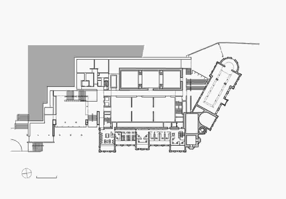 Site plan of Auckland Art Gallery Toi o Tāmaki by FJMT and Archimedia in association.
