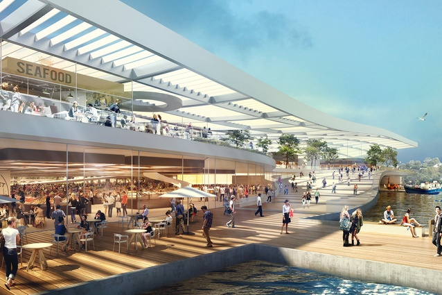 Indicative design of the new Sydney Fish Market by 3XN.