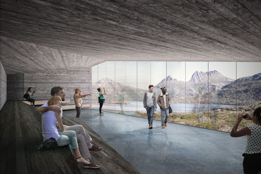 The proposed Dove Lake viewing shelter by Cumulus Studio.