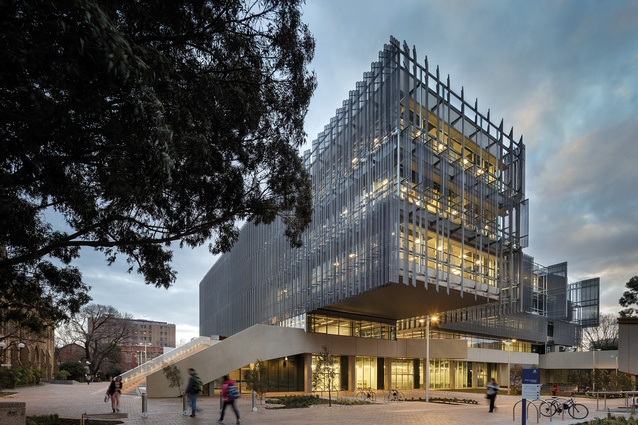 Melbourne School of Design, The University of Melbourne by John Wardle Architects and NADAAA in collaboration, winner of the Daryl Jackson Award for Educational Architecture.
