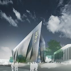 Denton Corker Marshall's winning entry for the UTS Broadway Building Design Competition.