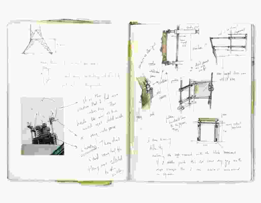 A spread from the sketchbook of Nikolas Koulouras, as part of a first-year architecture studio at the University of Western Australia in 1991. His project was featured in a recent publication celebrating the architecture school's fifty-year anniversary.
