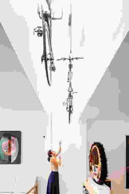 House Bruce Alexander (2008): Storage is arranged to create interesting spatial relationships. Artwork (L-R): Giles Alexander; Alan Jones.