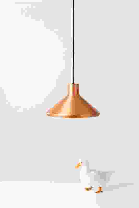 Dr Spinner is a spun-metal pendant available in copper, brass and powdercoated aluminium.