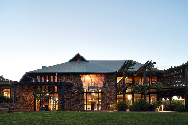 The new fitout was inspired by the ruggedness of the landscape and the refinement of Vasse Felix's food and wine production.