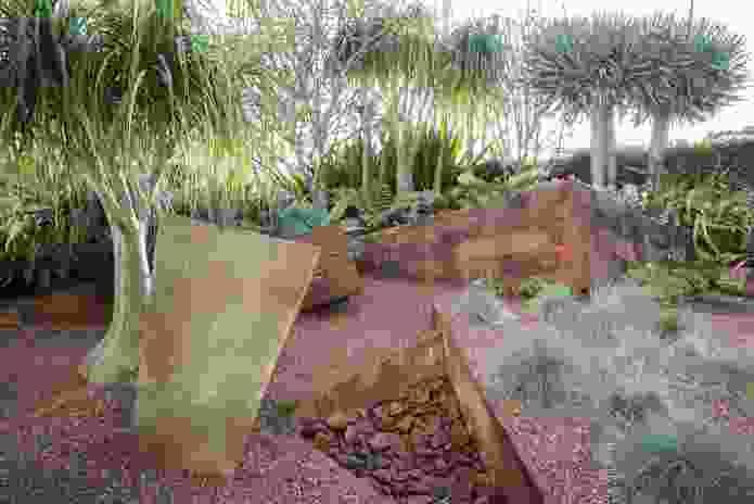 Red Garden designed by Vladimir Sitta, using central Australian stone.