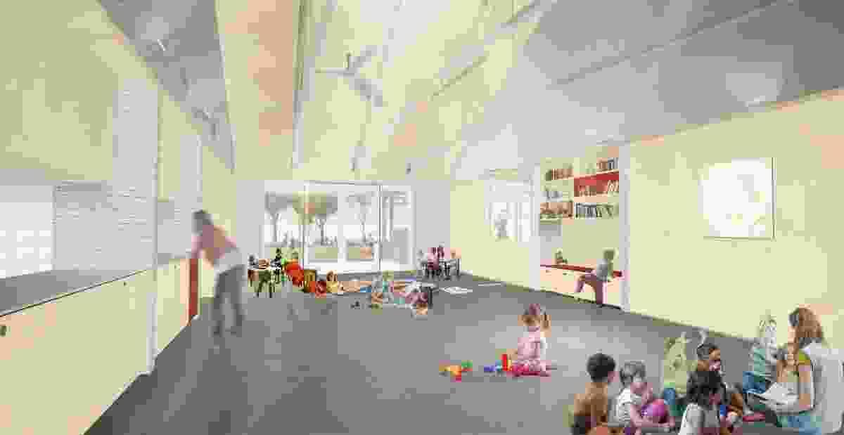 Interior of Fox Johnston's childcare centre.