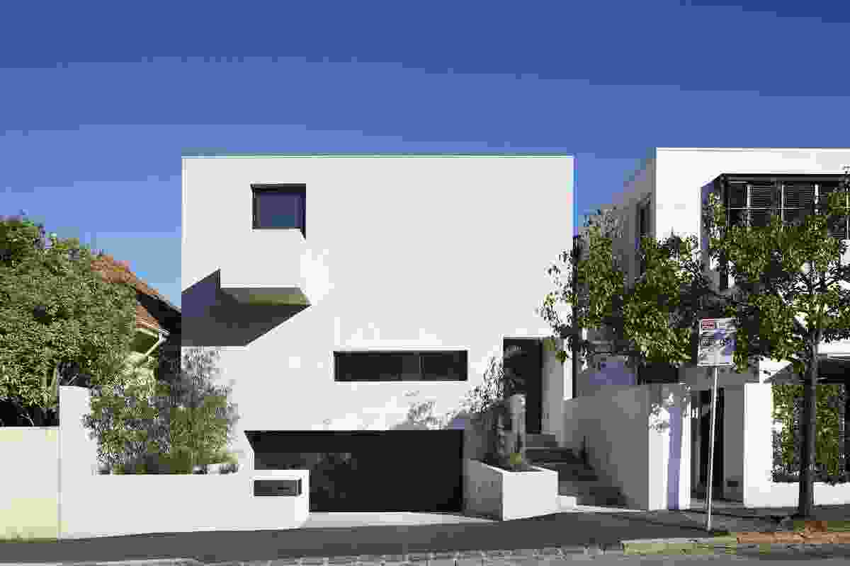 Despite an eclectic streetscape, the house endured a rigorous town planning process.