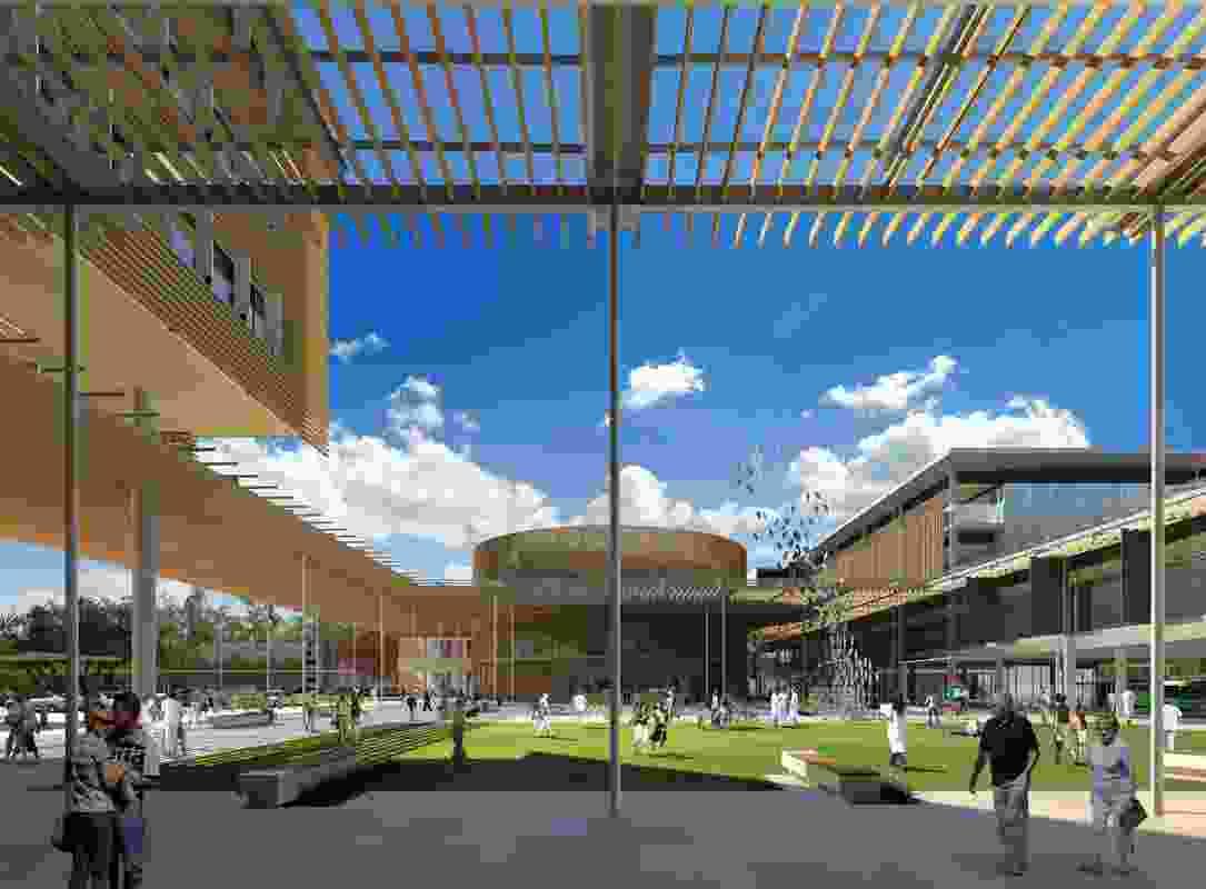The Sunshine Coast University Hospital by Architectus and HDR Rice Daubney.