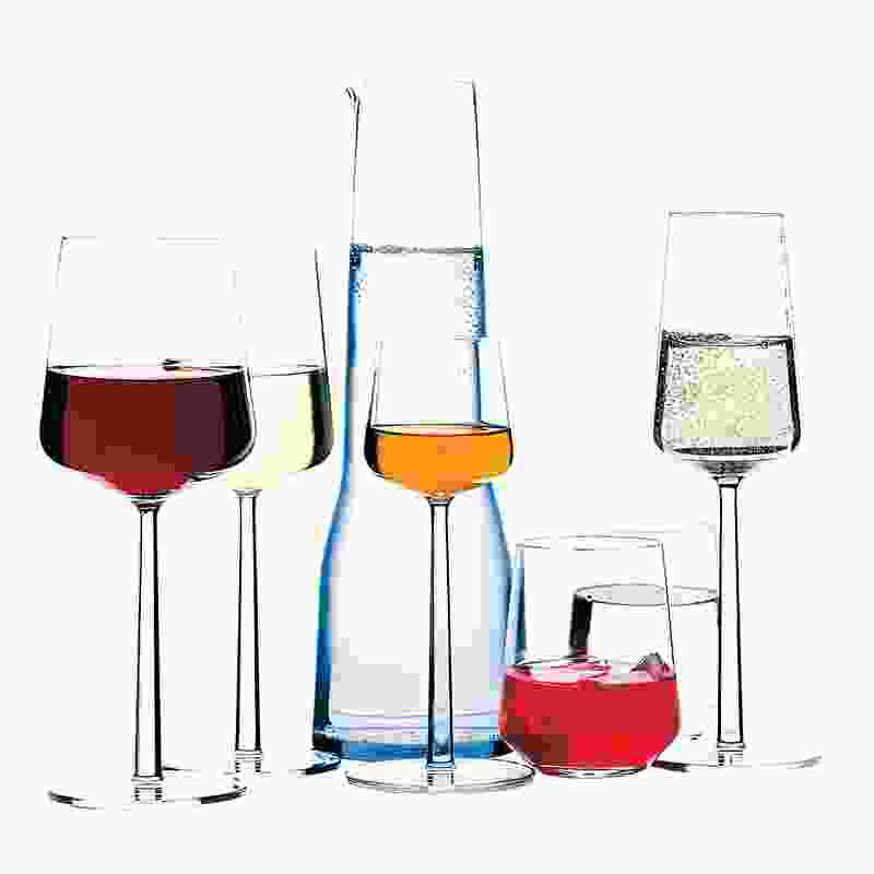 The design of the Essence glassware range for Iittala is inspired by a balance between celebration and daily use.