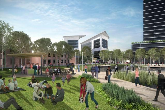 A concept image of a park.