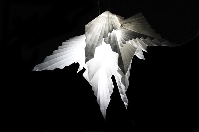 A light by Mayuko Yoshida, one of eight designers representing Melbourne Movement.