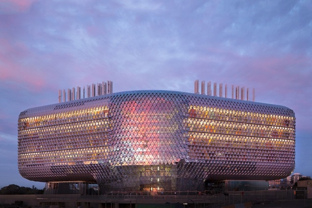 The SAHMRI (South Australian Health and Medical Research Institute) by Woods Bagot.
