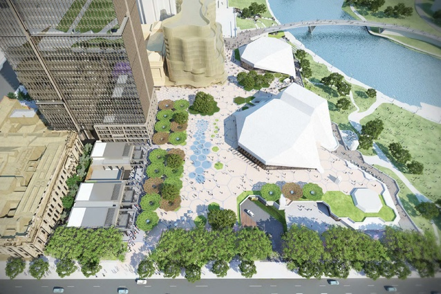 Green light for arm and tcl 39 s adelaide festival plaza for Landscape architect adelaide