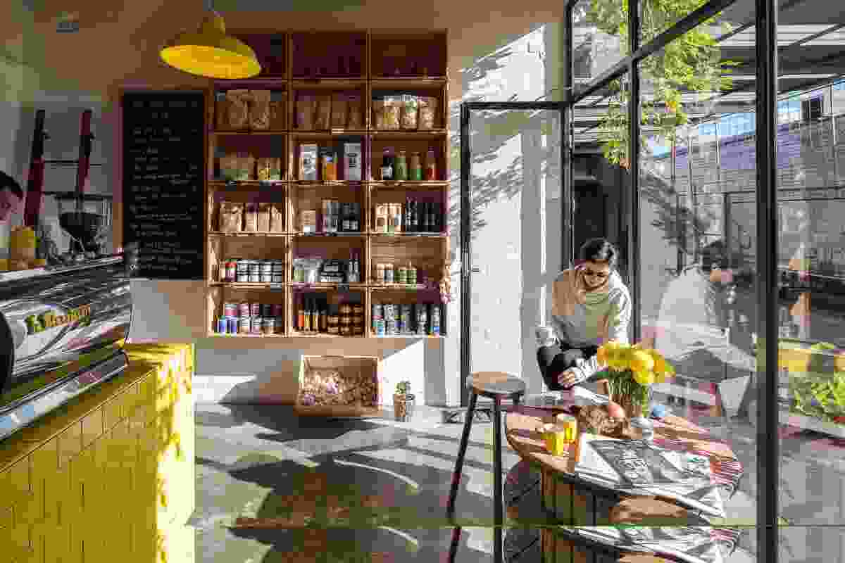Pope Joan Produce Store by Figureground Architecture.