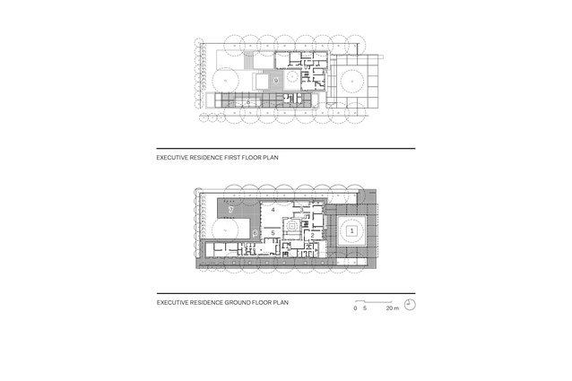 Australian Embassy Jakarta Executive Residence floor plans.
