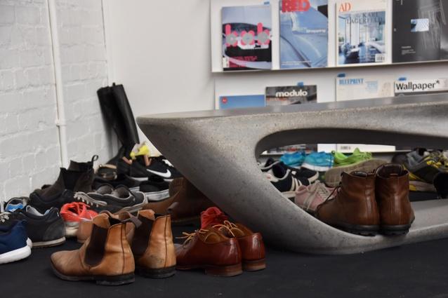 AL_A has a no shoes policy in its studio.