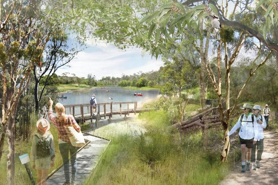 """The Oxley Creek draft masterplan would see the 15-kilometre waterway between Brisbane River and Larapinta reimagined as both a sanctuary for wildlife and an """"urban playground."""""""