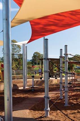 Fitzgibbon Chase's play areas are well used by young families.