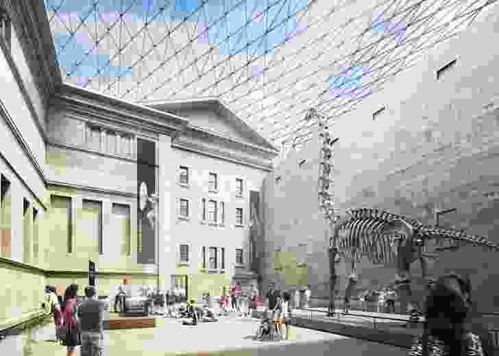 A future grand hall at the centre of the museum, part of the 2016 masterplan prepared by Hames Sharley.