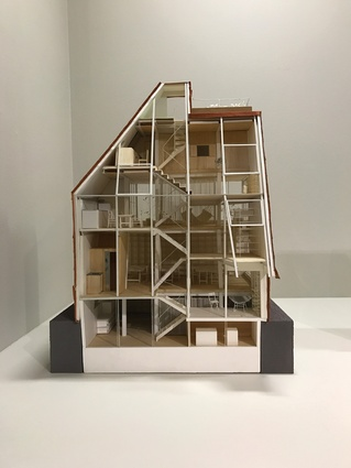 Model of Atelier Bow-Wow's home and office (2005) in Tokyo, which is a gradient of publicness, from the studio located on the lower floors to the apartment above.