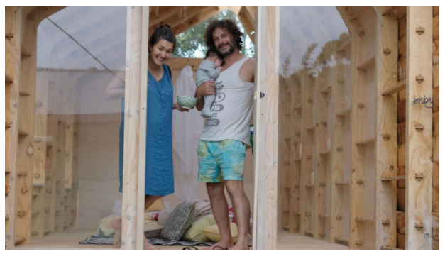 The IMBY pavilion has given Adriano Pupilli, his wife Fiona and baby more space.