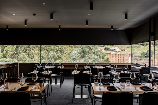 1830 Restaurant, Port Arthur Visitor Centre by Jaws Interiors (interior fit-out) and Rosevear Stephenson Architects.
