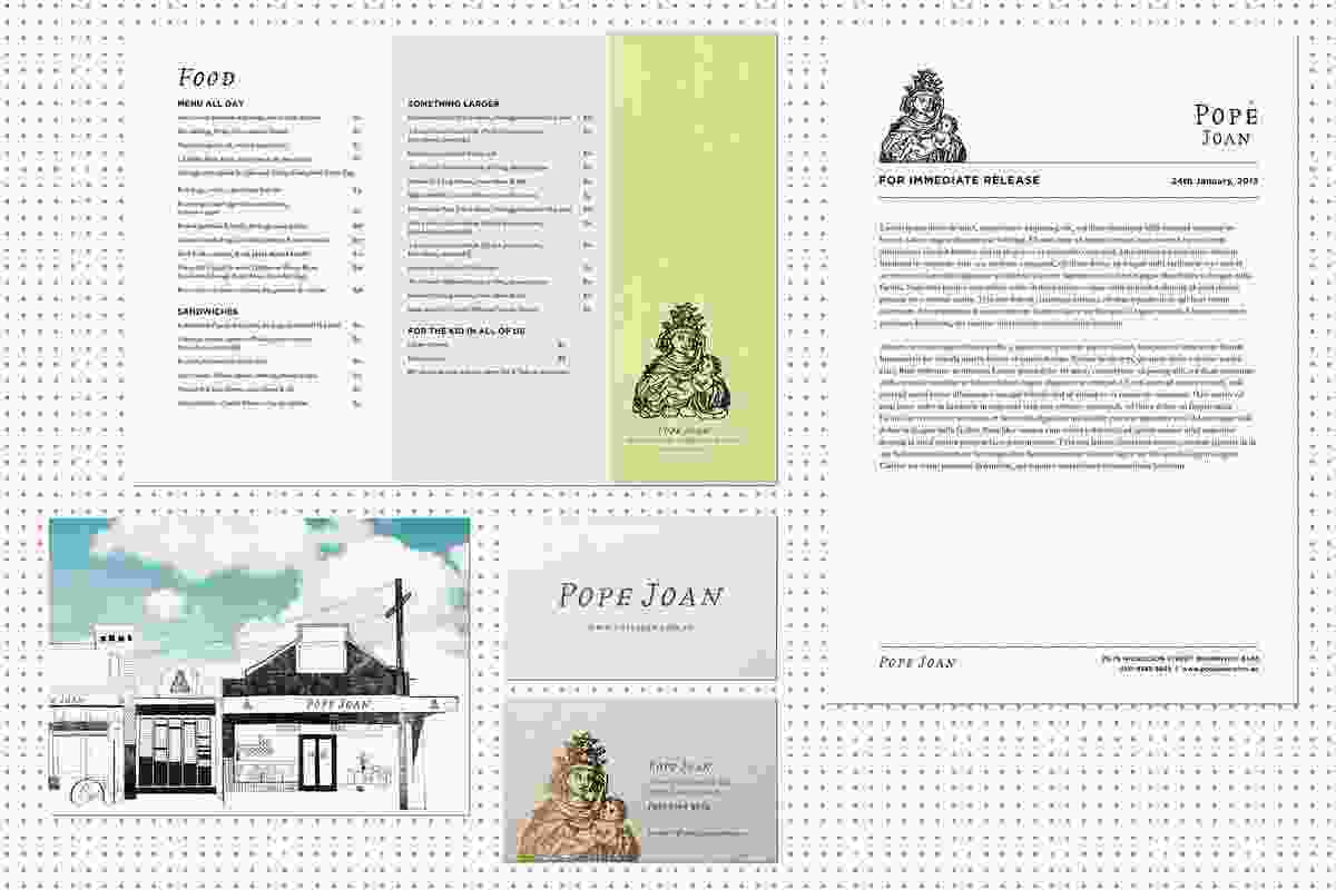 Pope Joan re-branding by Racket.