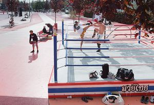 """At Superkilen a boxing ring """"cultivates conflict"""" in the public realm."""