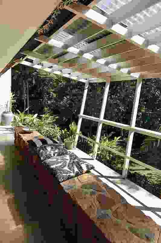 Generous patio and pergola spaces encourage an appreciation of the surrounding landscape.