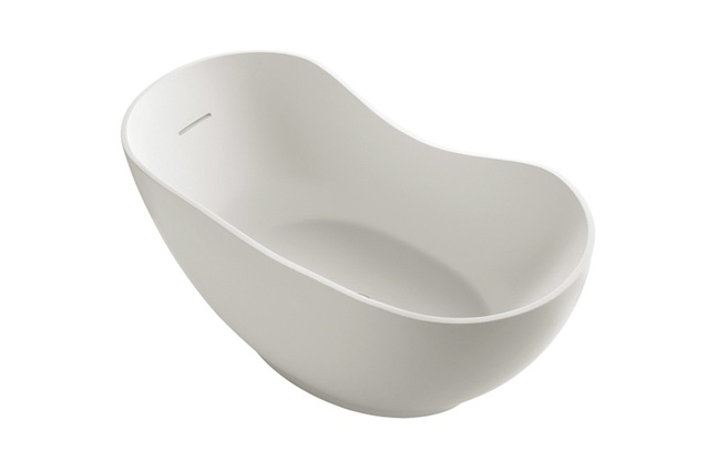 Abrazo Lithocast Oval Freestanding Bath.