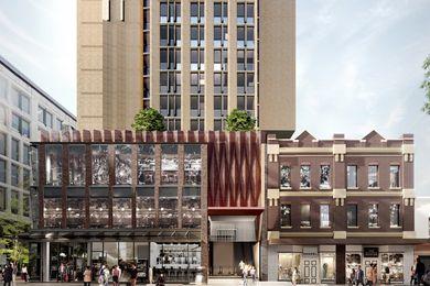 Dixon Street 82-84, Haymarket tower, PTW Architects设计。