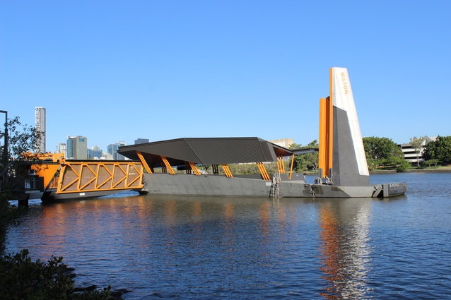 Milton ferry terminal by Cox Rayner and Aurecon.
