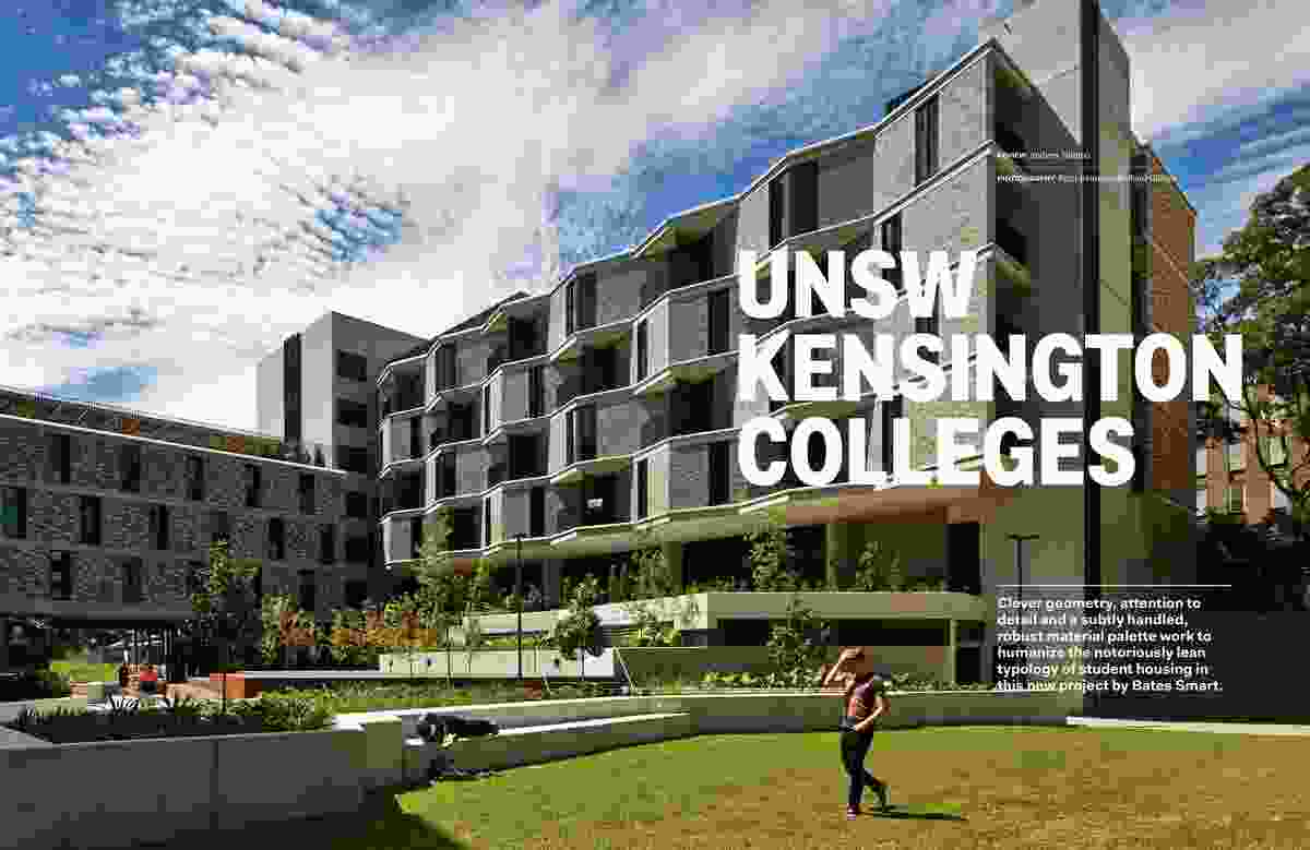 UNSW Kensington Colleges by Bates Smart.