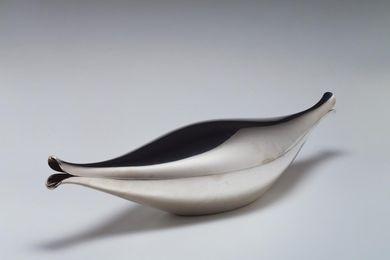 Fish dish designed by Henning Koppel, manufactured by Georg Jensen Sølvesmedie.