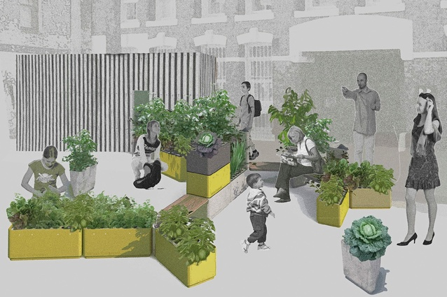 Urban Commons kitchen garden by Shawn Ashkanasy and Justin Hutchinson of Urban Commons.