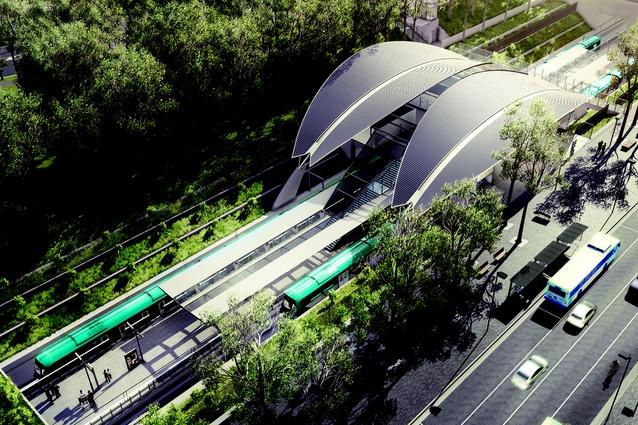 Sydney Metro Northwest's Cherrybrook station, designed by Hassell.