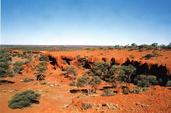 """Break-away"" Country near Windidda, Eastern Goldfields. The jurisdiction of the Kalgoorlie Courts stretches across a vast area of Western Australia, from Esperence on the coast of the Great Southern Ocean up to parts of the Northern Territory."