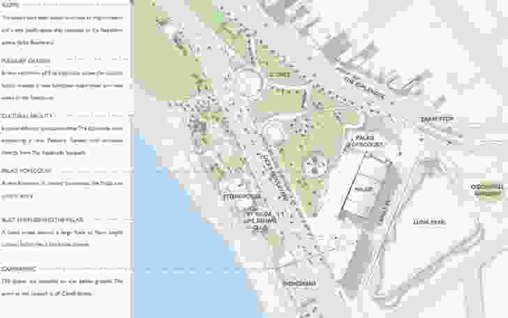 The 2.5 hectare beach side site in St Kilda is bordered by Luna Park and the Palais Theatre. Around half of the area would be retained as open space.