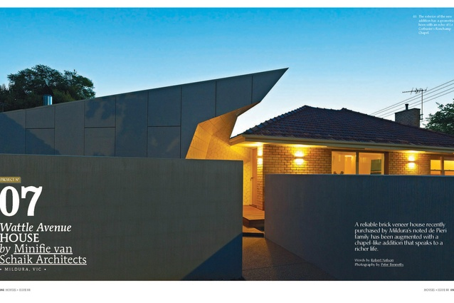 A preview from the magazine: Wattle Avenue House by Minifie van Schaik Architects.