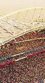 Stadium Australia, the east stand. Photos Patrick Bingham-Hall.